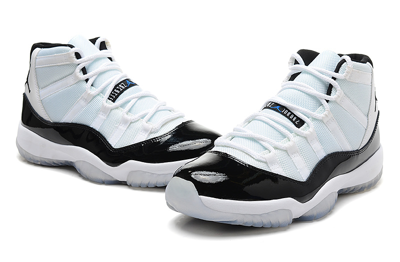 New Jordan 11 High Concord White Black Shoes