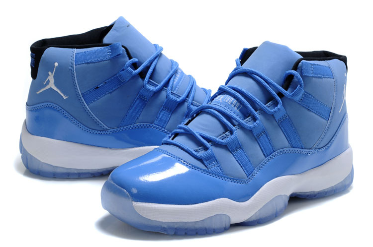 New Jordan 11 Retro Blue White Shoes