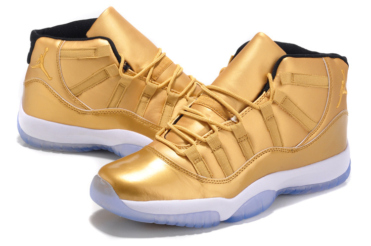 New Jordan 11 Retro Gold Shoes