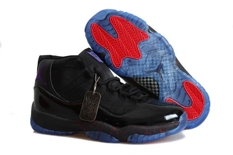 New Jordan 11 Retro Transformer Black Red Blue Shoes