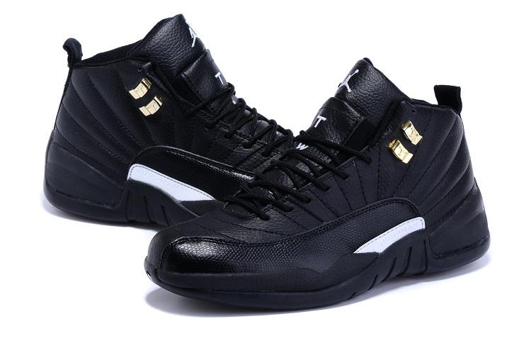 New Jordan 12 Retro All Black Shoes