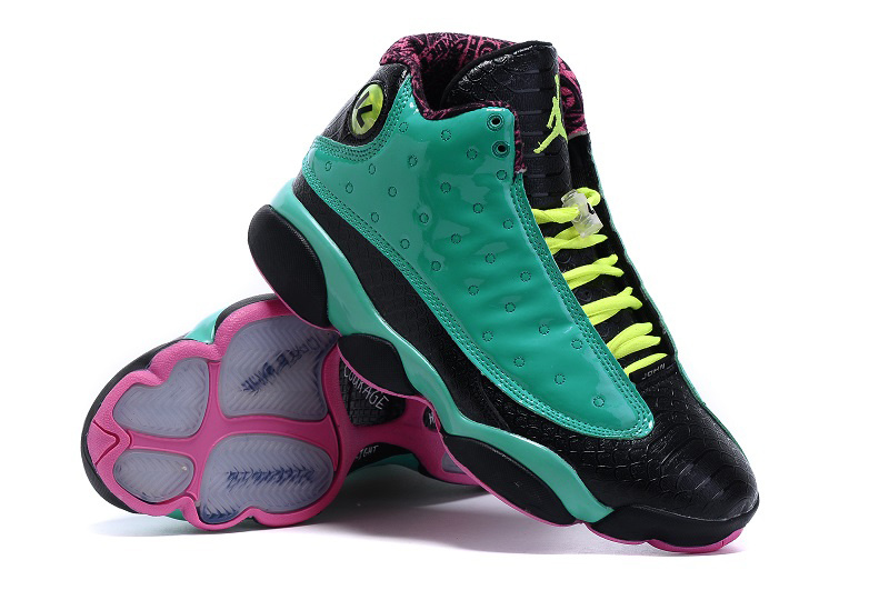 New Jordan 13 Doernbecher Green Black Pink Shoes
