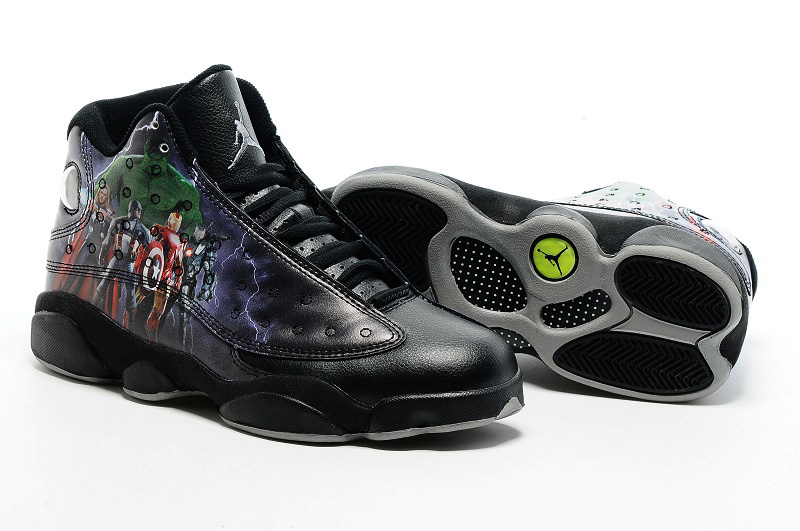New Jordan 13 Retro the Avengers Black Shoes