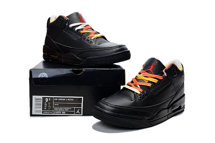 New Jordan 3 Retro Black Colorful Shoes