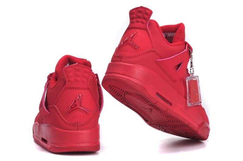 New Arrival Jordan 4 All Red Shoes For Women [JORDANS35] - $70.00