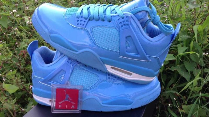 New Jordan 4 Retro All Blue Shoes