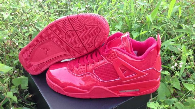 New Jordan 4 Retro All Red Shoes