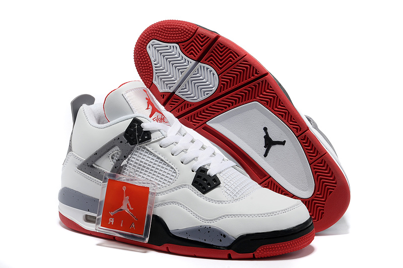 2013 Air Jordan 4 White Black Red Shoes