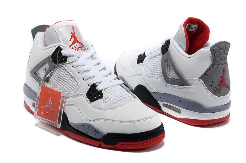 2013 Air Jordan 4 White Black Red Shoes