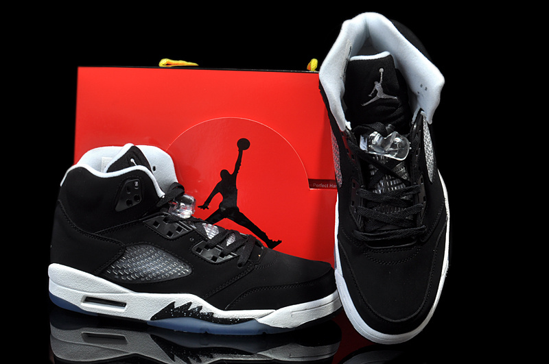 New Arrival Jordan 5 Hardback Edition Black White Shoes