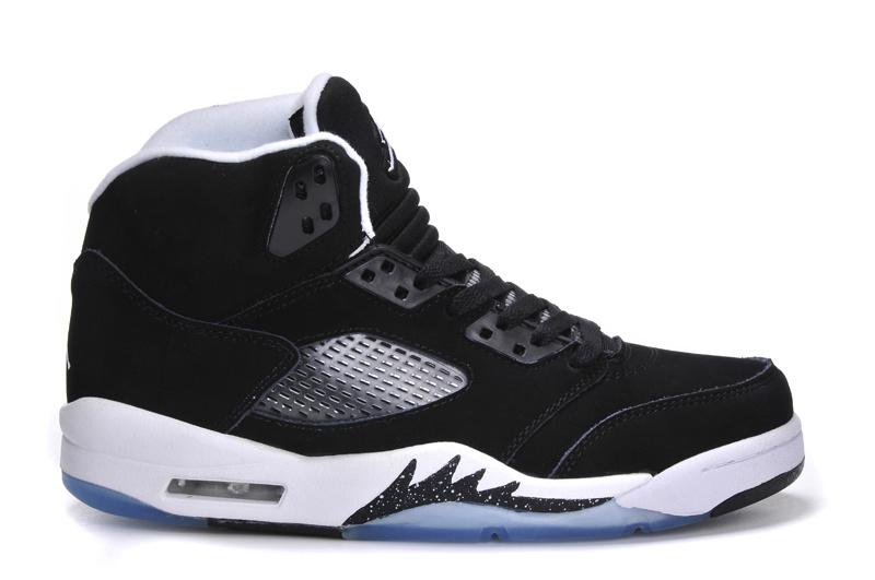 New Arrival Jordan 5 Retro Black White Shoes