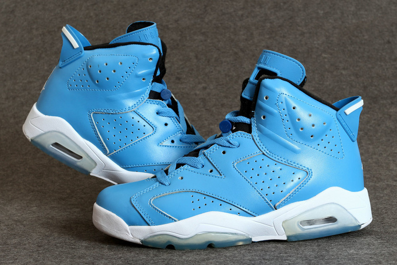 New Jordan 6 Retro Blue White Shoes