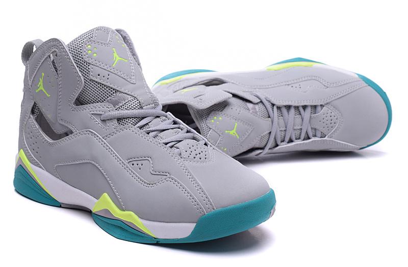 New Jordan 7 Grey Green Shoes For Women [813037] - $75.00