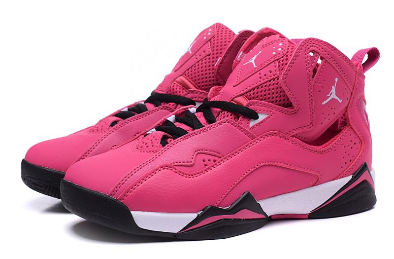 New Jordan 7 Red Black Shoes For Women