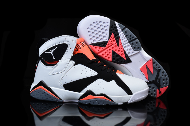 New Original Air Jordan 7 White Black Pink Shoes For Women