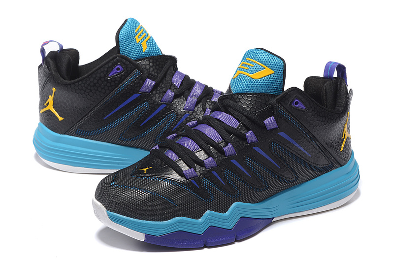New Jordan CP3 IX Black Purple Blue Yellow Shoes