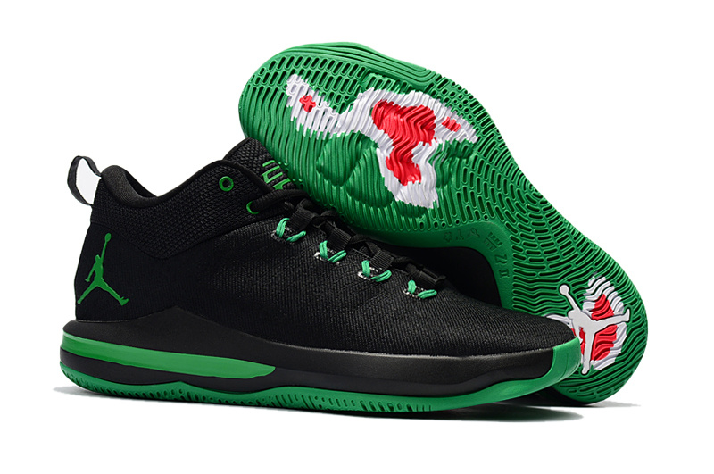 New Jordan CP3 X Elite Black Green Shoes