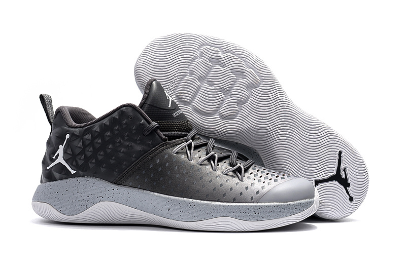 New Jordan Extra Fly Black Grey Basketball Shoes