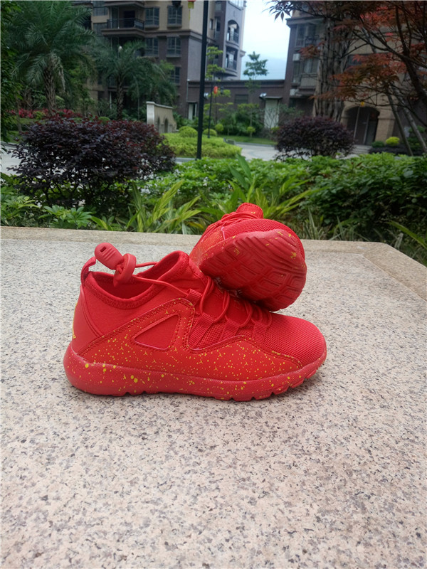New Jordan Mesh All Red Shoes For Kids