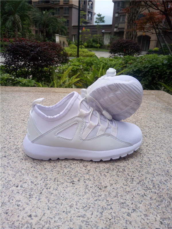New Jordan Mesh All White Shoes For Kids