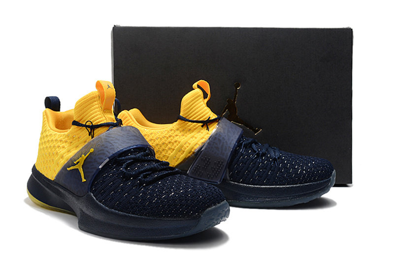 New Jordan Trainer II Deep Blue Yellow