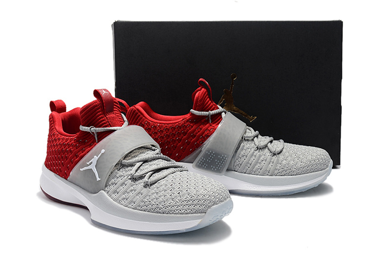 New Jordan Trainer II Grey Red