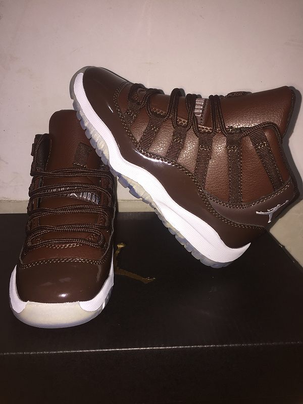 New Kids Air Jordan 11 Coffe Shoes