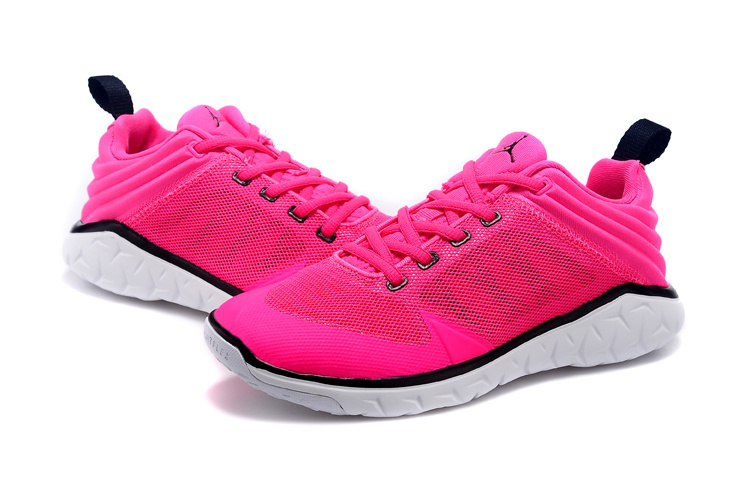 New Women Jordan Running Shoes Pink Black White