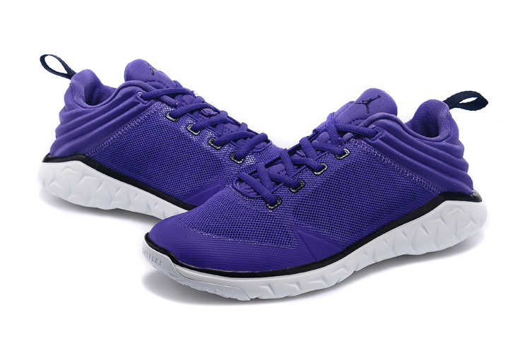 New Women Jordan Running Shoes Purple White