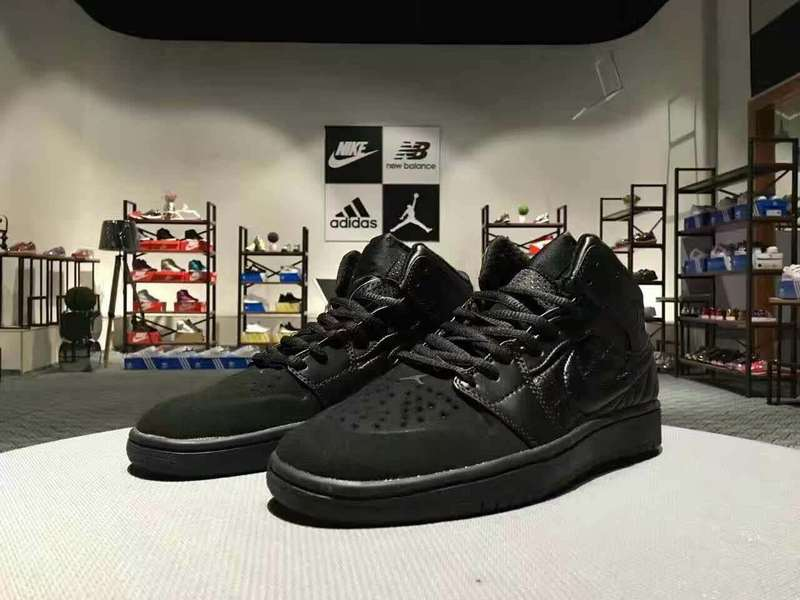 Newly Air Jordan 1 Retro All Black Shoes