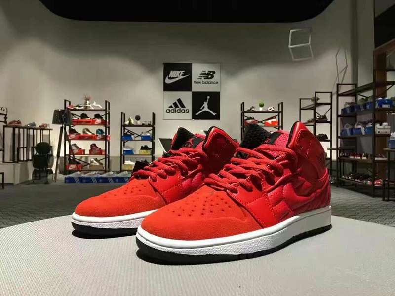 Newly Air Jordan 1 Retro Red White Shoes