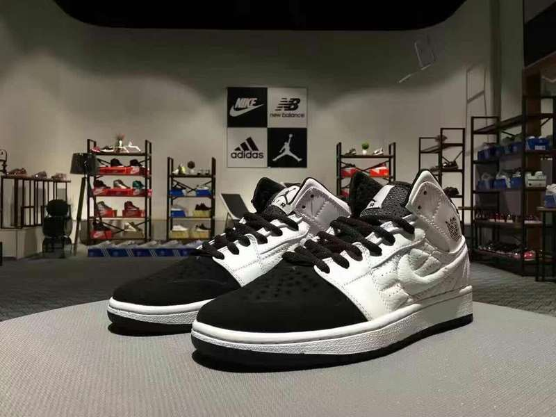 Newly Air Jordan 1 Retro White Black Shoes