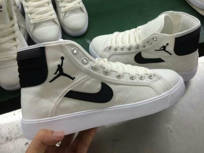 Women Nike Air Jordan Sky High OG White Black Shoes