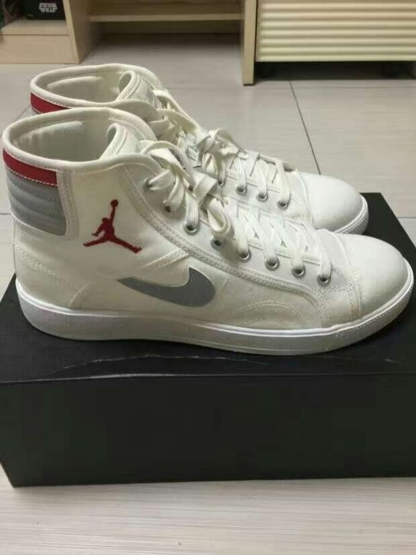 Women Nike Air Jordan Sky Low High OG White Red Grey Shoes
