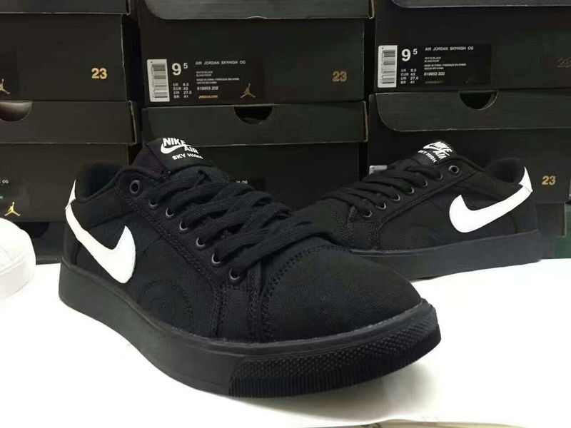 Women Nike Air Jordan Sky Low OG Black White Shoes