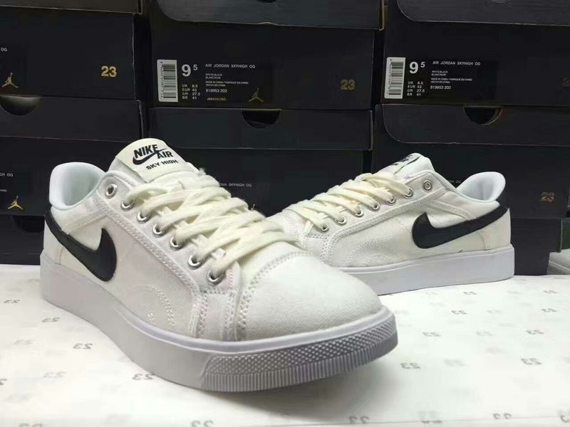Women Nike Air Jordan Sky Low OG White Black Shoes