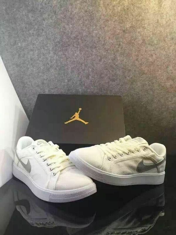 Women Nike Air Jordan Sky Low White Grey Shoes