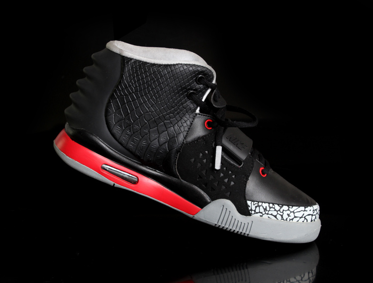 Nike Air Yeezy 2 Black Grey Cement Shoes