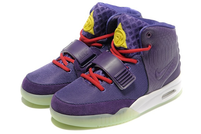 Nike Air Yeezy 2 Purple White Shoes