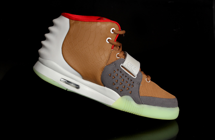 Nike Air Yeezy 2 White Brown Shoes