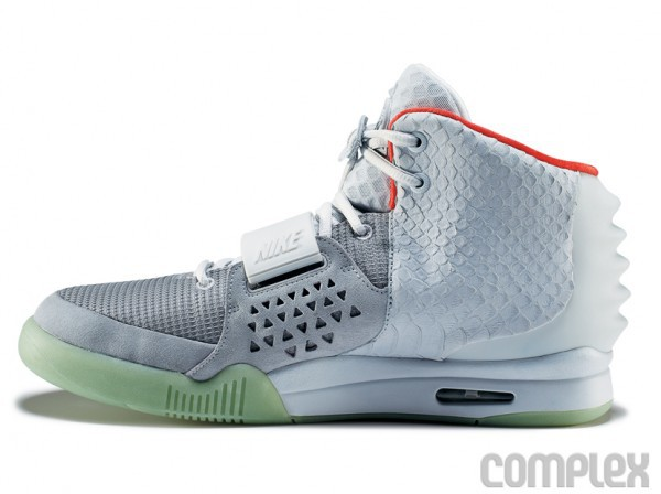 Nike Air Yeezy 2 White Grey Shoes