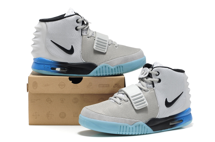 Nike Air Yeezy 2 White Light Blue Shoes
