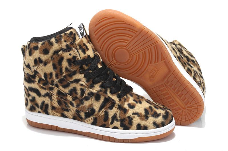 Women Nike Dunk SB Sky High Cheetah Print Shoes