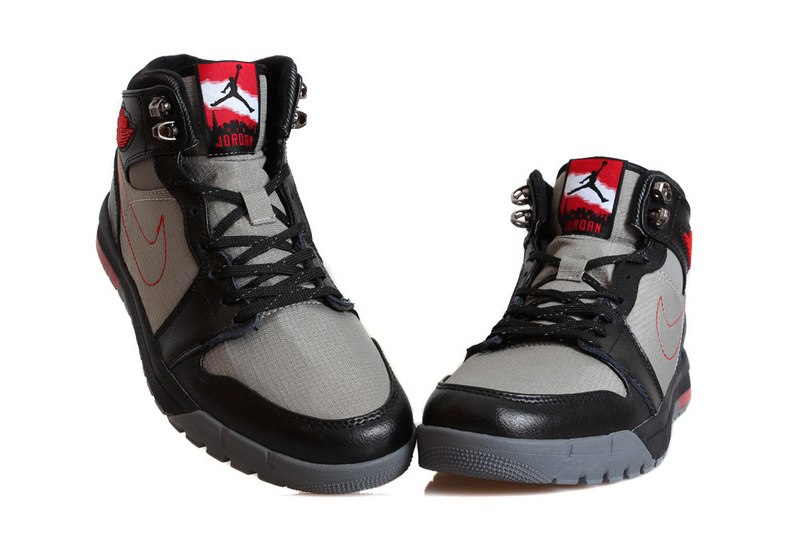 Nike Jordan 1 Trek Black Grey Red Climbing Shoes