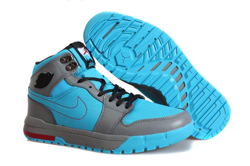 Nike Jordan 1 Trek Grey Blue Climbing Shoes