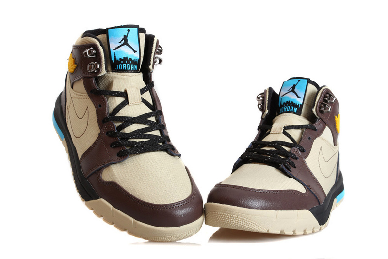 Nike Jordan 1 Trek Light Pink Brown Climbing Shoes