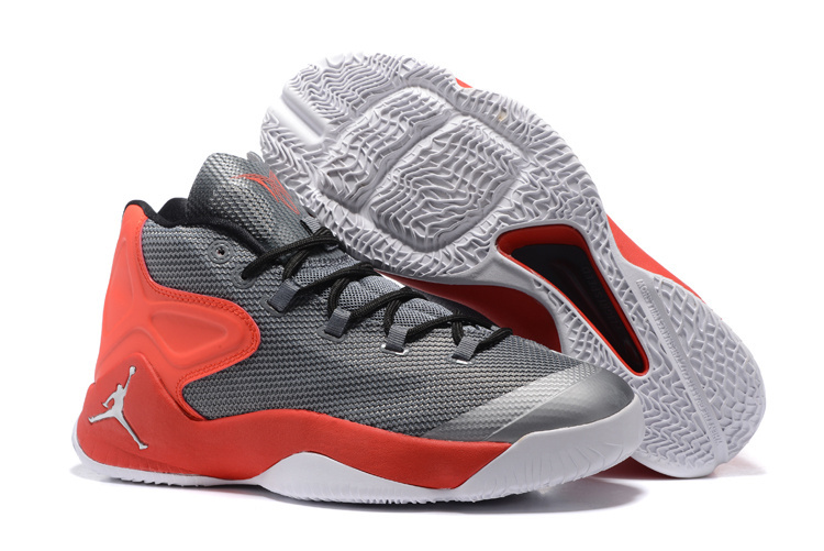 2016 Jordan Carmelo 12 Grey Red Shoes