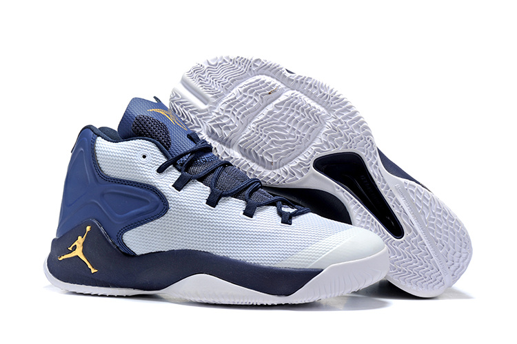 2016 Jordan Carmelo 12 White Blue Yellow Shoes