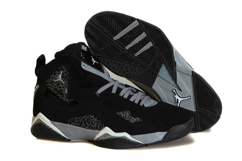 Nike Jordan True Flight Black Grey White Basketball Shoes