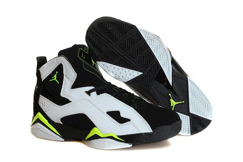 Nike Jordan True Flight White Black Fluorscent Basketball Shoes